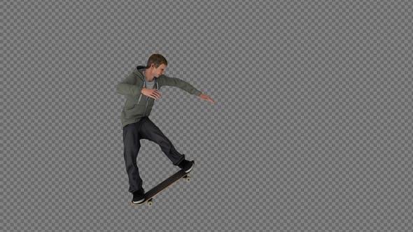 Thumbnail for The Boy Skateboard Grind In Loop 12In1