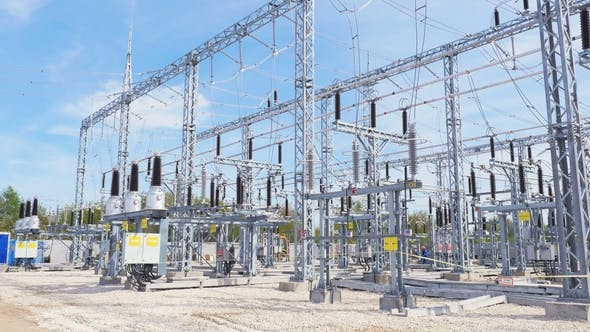 Thumbnail for Insulators Isolate Current-carrying Parts at Substation