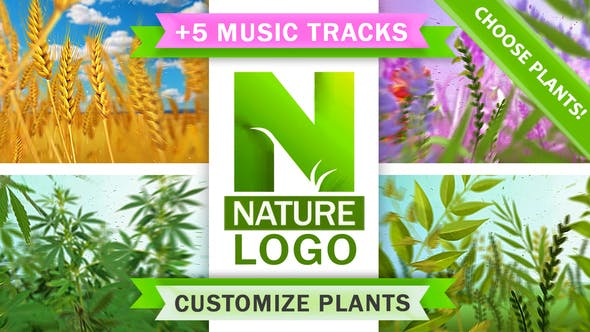 Thumbnail for Logo Nature Eco Plants