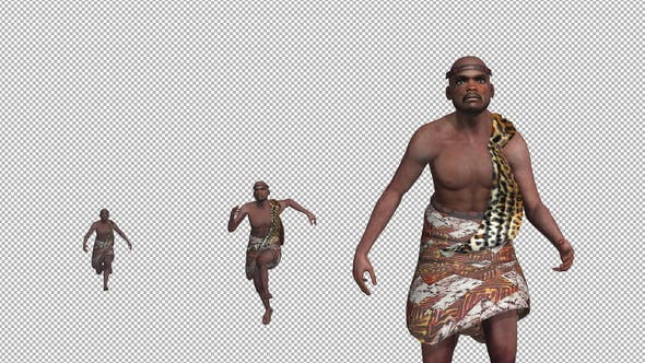 African Traditional Warrior Run