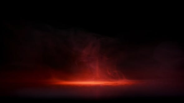 Thumbnail for Water Drops in Orange Light and Clouds of Fog Smoke Black Background