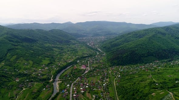 Cover Image for Aerial View of the Landscape in Mountains