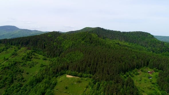 Thumbnail for Aerial View of the Landscape in Mountains.