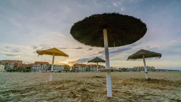Thumbnail for Colorful Sunset on the Beach of Malvarrosa. Valencia, Spain