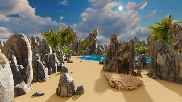 Thumbnail for Island With Steep Rocks