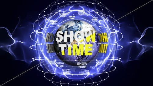 Two Show Time Text Around the Earth, Background