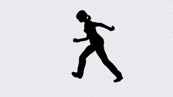 Thumbnail for Silhouette Of A Running Girl