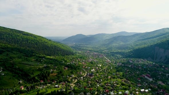 Thumbnail for Aerial View of the Beautiful Landscape in Mountains.