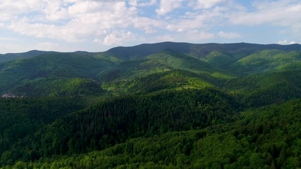 Cover Image for Aerial View of the Beautiful Landscape in Mountains