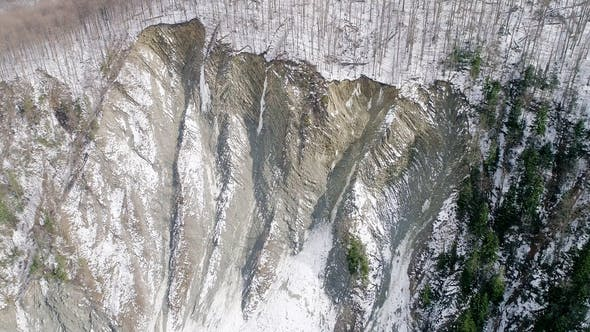 Thumbnail for Aerial View of Carpathian Mountains in Winter, Yaremche, Ukraine