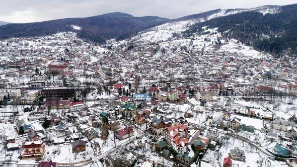 Thumbnail for Carpathian Mountains in Winter, Yaremche, Ukraine.