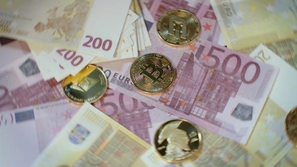 Thumbnail for Welt Kryptowährung Geschäft. Bitcoin Mining und Handel