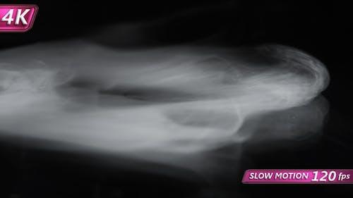 Mystic Fog on the Black Background