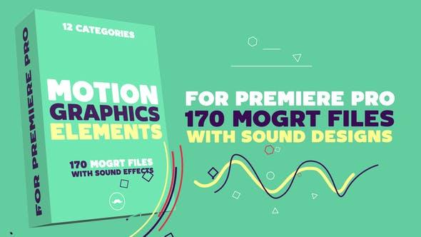 Thumbnail for Motion Graphics Elements Pack   MOGRT for Premiere Pro