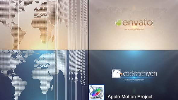 Thumbnail for Global Business Logo - Apple Motion
