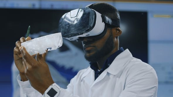 Thumbnail for Scientist Using VR Glasses for Exploration