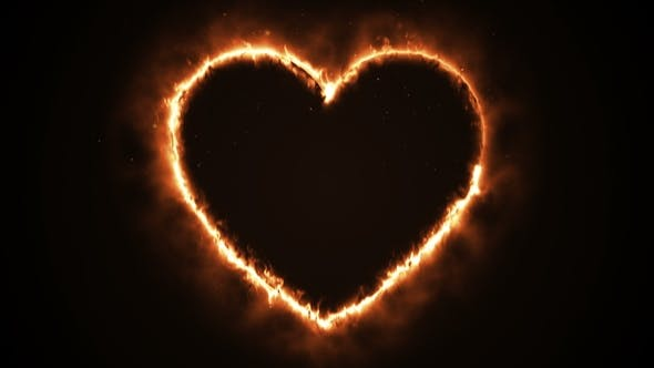 Thumbnail for Burning Heart Shape with Sparks