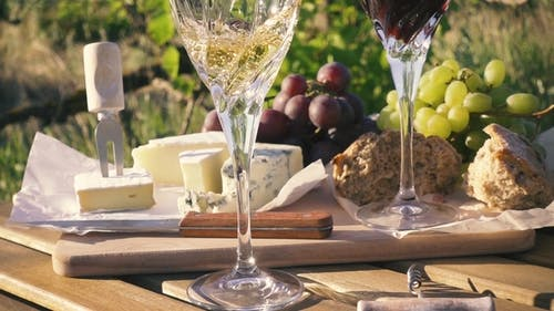 Picnic Outdoors in Vineyards