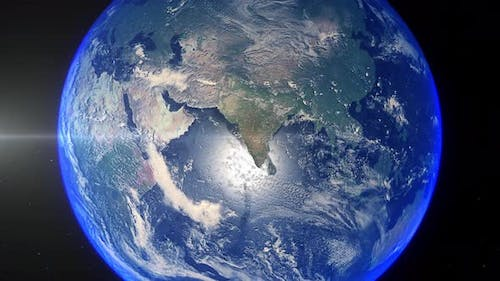 Realistic Earth Zoom Out Clouds India