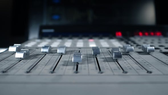 Thumbnail for Professional Recording Studio. Interface of Sound Equipment for Mixing Music. Fader. Different Modes
