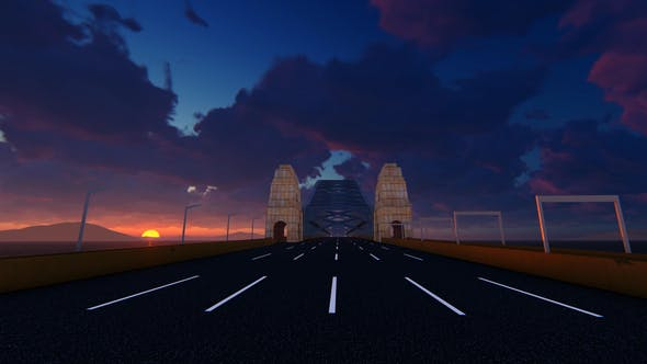 Thumbnail for Move On The Bridge At Sunset
