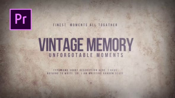 Cover Image for Vintage Memory