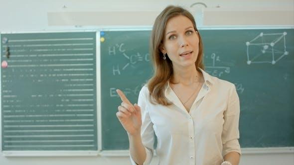 Thumbnail for University Teacher Talking Into the Camera