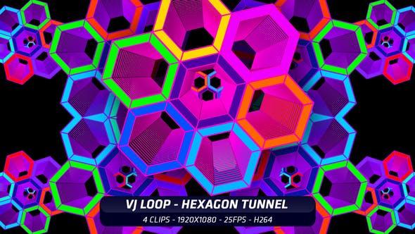 Thumbnail for VJ Loop - Hexagon Tunnel