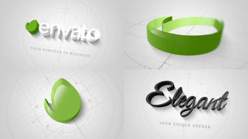Technical Elegant Logo 3D Opener