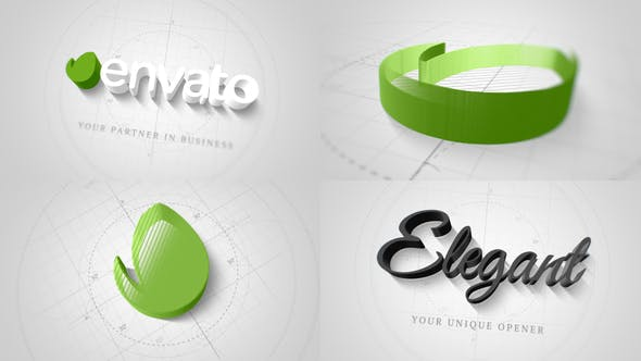 Thumbnail for Technical Elegant Logo 3D Opener
