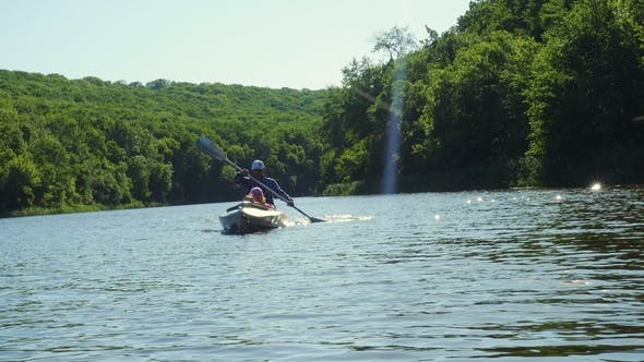 Thumbnail for Father and Two Children Kayaking