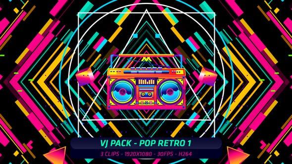 Thumbnail for VJ Pack - Pop Retro 1