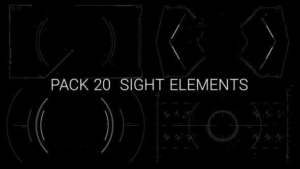 Thumbnail for Pack 20 Looped Hi-Tech Sight Elements HD