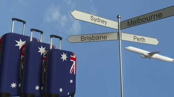 Thumbnail for Reisegepäck mit Flagge Australiens