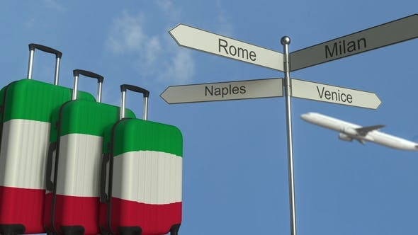 Thumbnail for Travel Baggage Featuring Flag of Italy