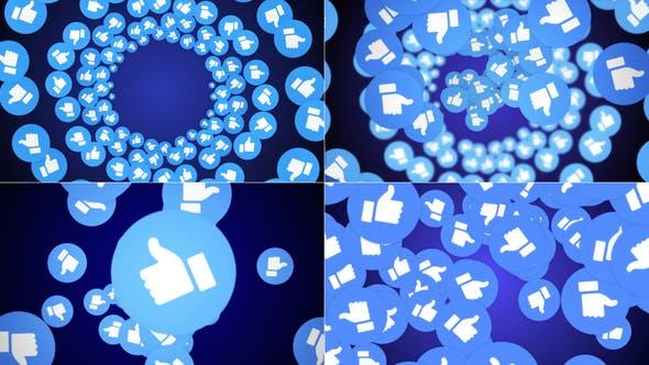 Thumbnail for Vier fallende soziale Netzwerke wie Emoji mit Alpha-Kanal (4 Videos))