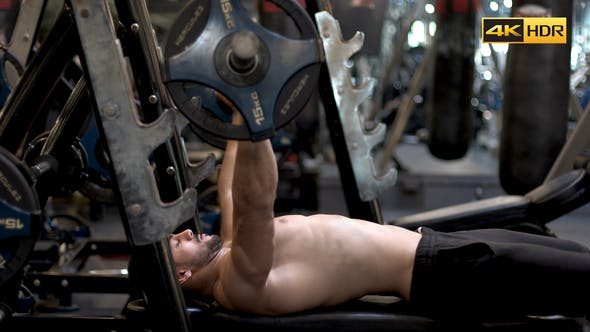 Thumbnail for Man Working Chest At Gym