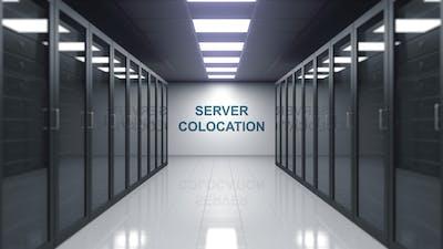 SERVER COLOCATION Caption in a Server Room