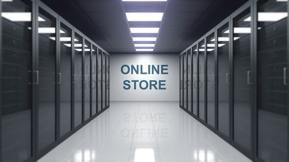 Thumbnail for ONLINE STORE Caption on the Wall of a Server Room