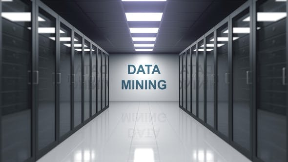 Thumbnail for DATA MINING Caption on the Wall of a Server Room