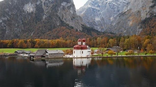 Thumbnail for View of St. Bartholomew's Pilgrimage Church, Berchtesgaden, Germany