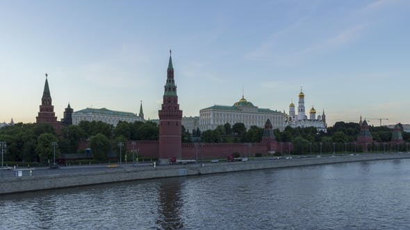 Thumbnail for Moscow Kremlin and Moscow River at Summer Sunset