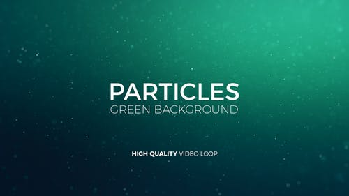 Particles Green Background