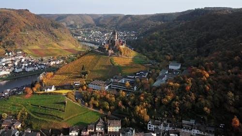 Flight Over Cochem Castle, Germany