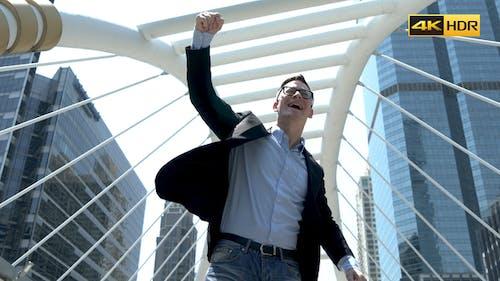 Man Celebrating A Successful Day
