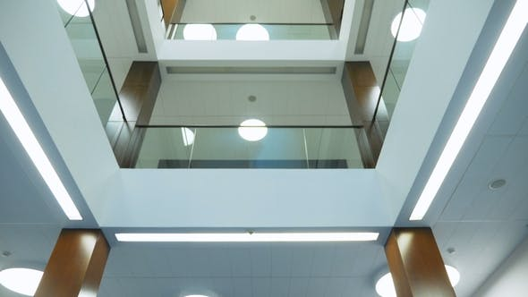 Thumbnail for View on Ceiling in Lobby of Three Story Office