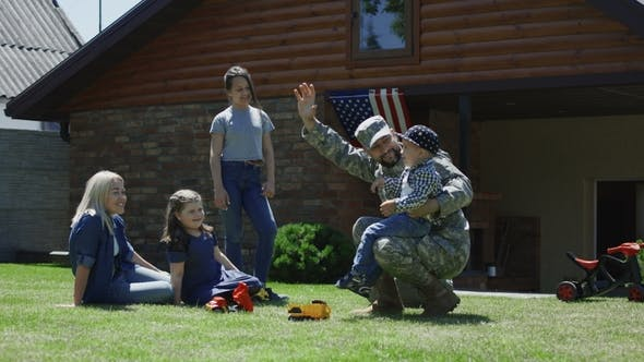 Thumbnail for Military Man Spending Time with Family