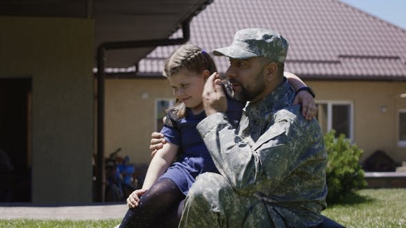 Thumbnail for Man Spending Time with Children Before Army