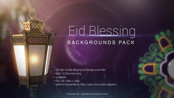 Thumbnail for Blessing Eid Backgrounds pack