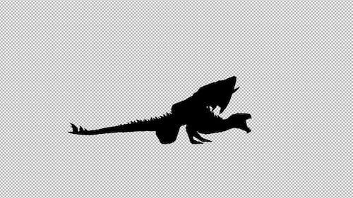 Dragon Roar Scream Silhouette